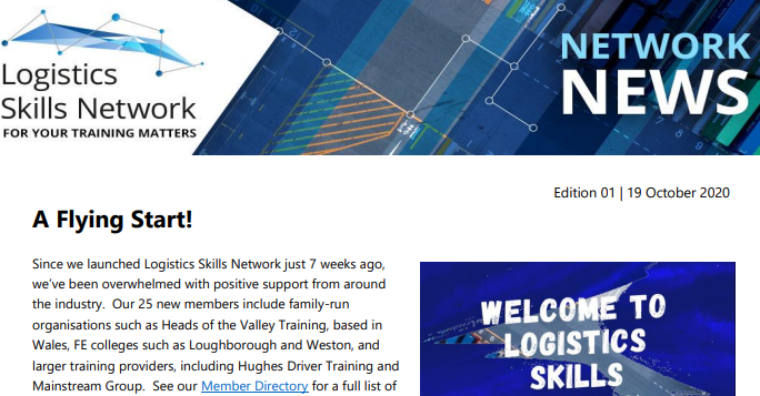 network news logistics skills network newsletter