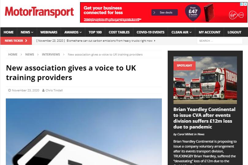 Motor Transport Logistics Skills Network
